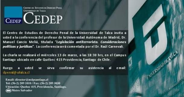 Charla Prof. Cancio 13-3-13