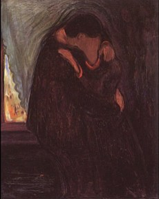 Edvard Munch - the kiss 1897