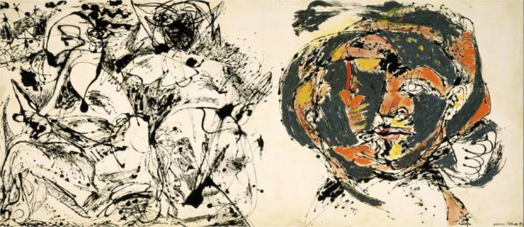 Jackson Pollock - Portrait and a dream, 1953