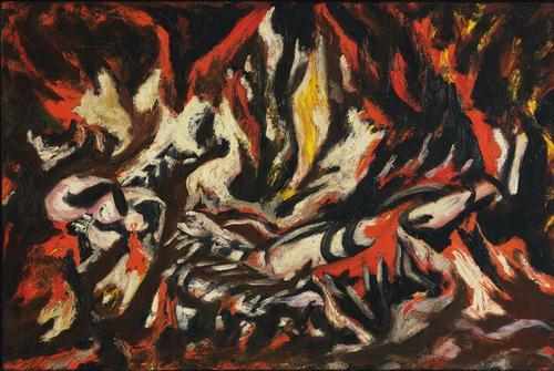 Jackson Pollock - the-flame-1938