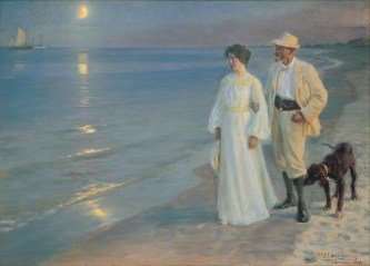 Peder Severin Krøyer – Summer evening on the beach at Skagen
