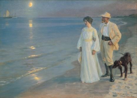 Peder Severin Krøyer – Summer evening on the beach at Skagen