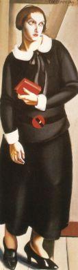 Tamara de Lempicka -1923-WomaninBlackDress