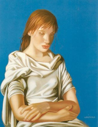 Tamara de Lempicka -1939-LadyinBlue-TheEnd