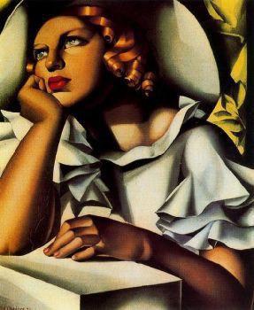 Tamara de Lempicka - Jeune fille a la fenetre