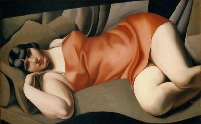Tamara de Lempicka - La tunique rose