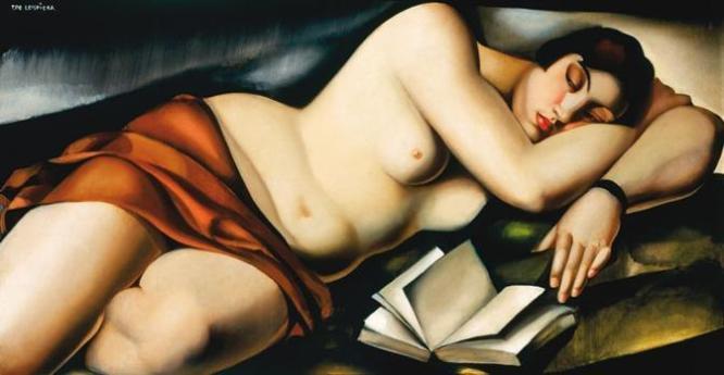 Tamara de Lempicka - Nu couche au livre