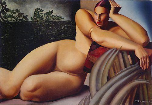 Tamara de Lempicka -Reclining-Nude-1925