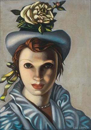 Tamara de Lempicka - The rose hat