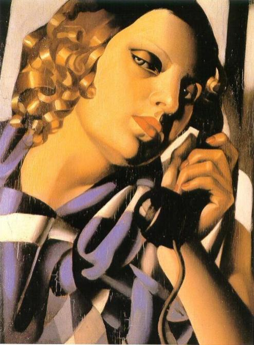 Tamara de Lempicka -The-Telephone-1930