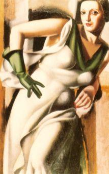 Tamara de Lempicka --Undated-LadywGreenGlove