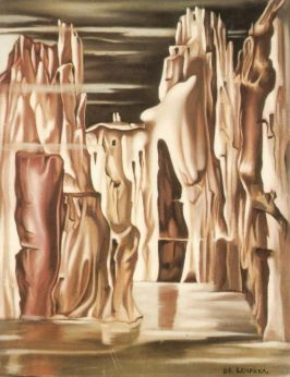 Tamara de Lempicka -Undated-SurrealistLandscape