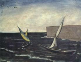 Vele nel porto - Carlo Carrà