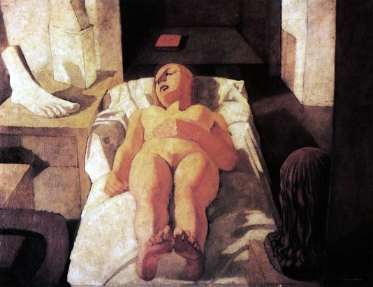Felice Casorati - fanciulla dormiente
