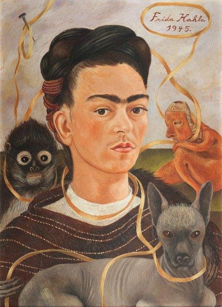 Frida Kahlo - autorretrato-con-changuito