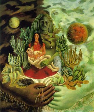 Frida Kahlo - love_embrace