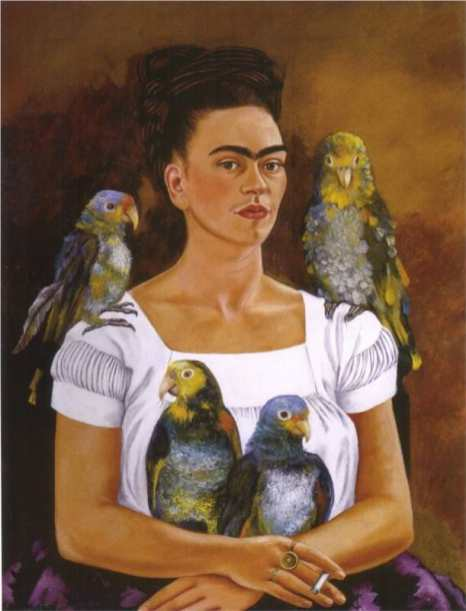 Frida Kahlo - me-and-my-parrots