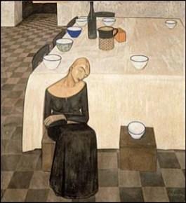 Felice Casorati - L'attesa_1918