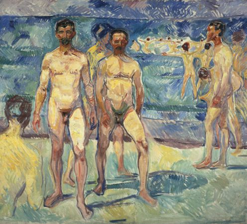 Edvard Munch - Bathing-men-1907-08