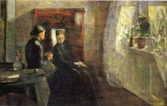 Edvard Munch - The-spring-1889