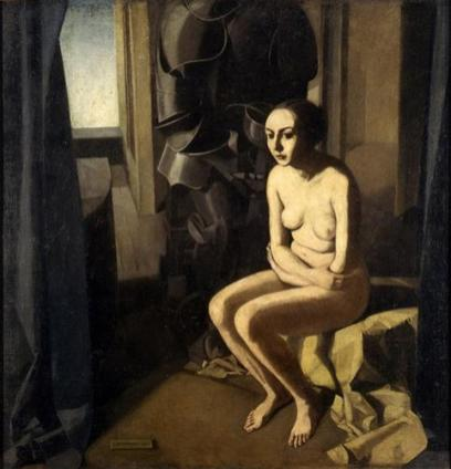 Felice Casorati - La donna e l'armatura,1921