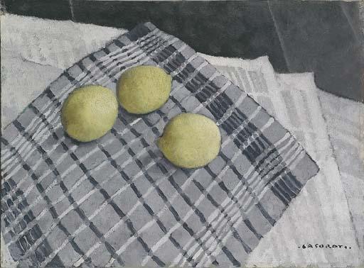 Felice Casorati - The lemons,1930