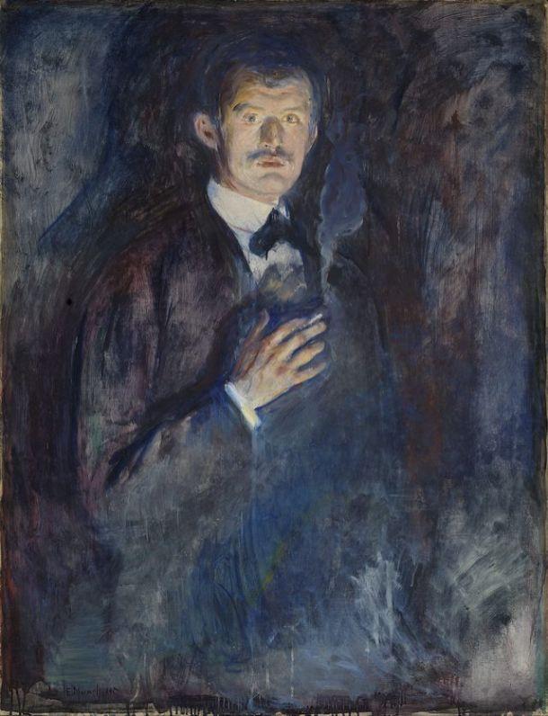 Edvard Munch - Self Portrait with Cigarette, 1891