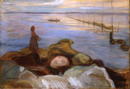 Edvard Munch - Woman by the sea