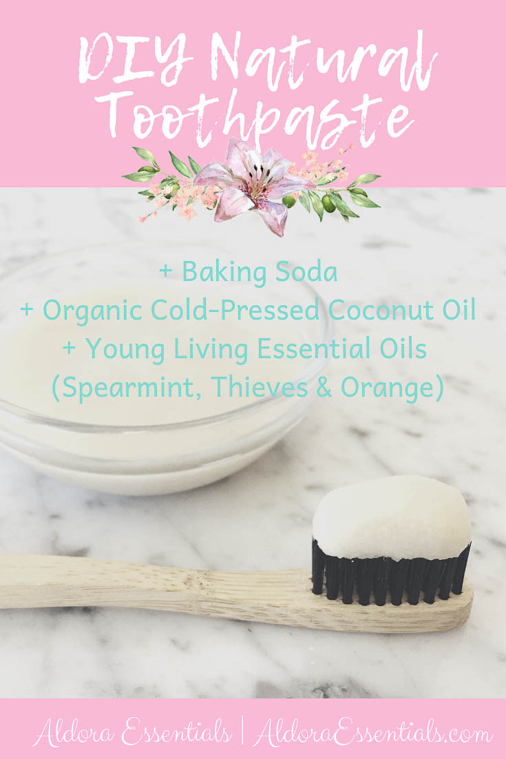 DIY Toothpaste, Young Living, YL, Essential Oils, Thieves, Orange, Spearmint