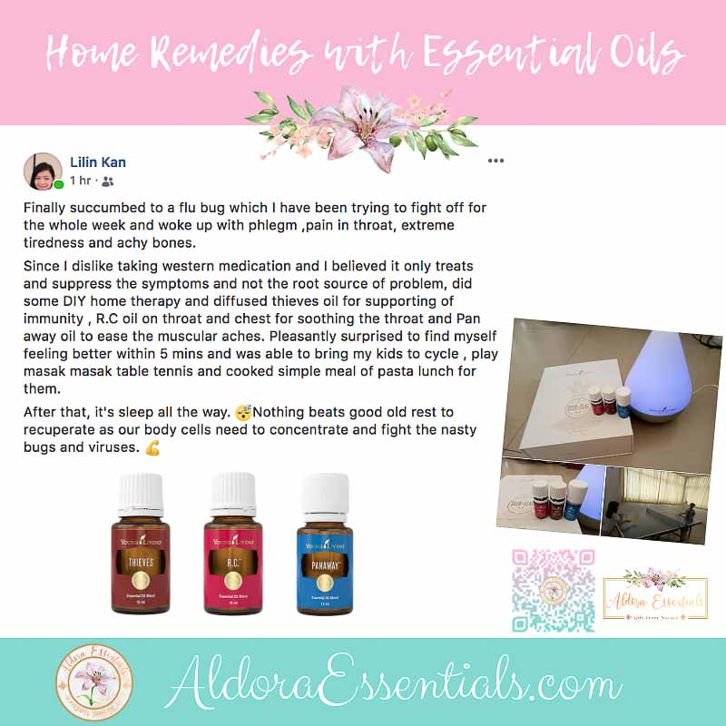 YL, Young Living, Home Remedies, Flu, Cough, Pain, Immunity