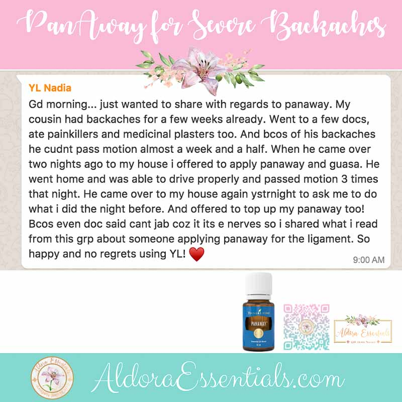Panaway, Young Living, Pain, Backache, Essential Oils