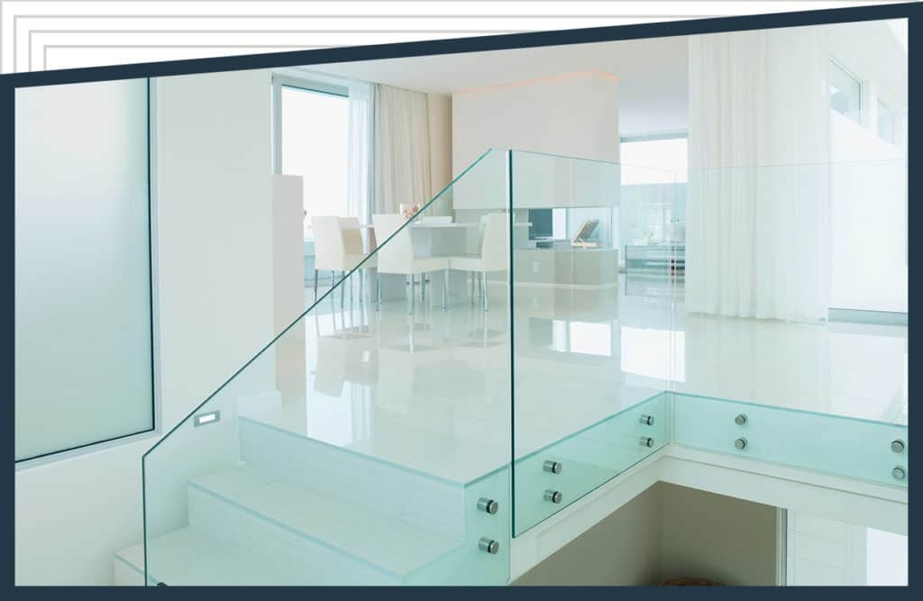 Glass Railings For Interior And Exterior Use By Aldora   Glass Stair Railing Cost   Living Room   Glass Balustrade   Simple   Grill   Glass Wood Combined