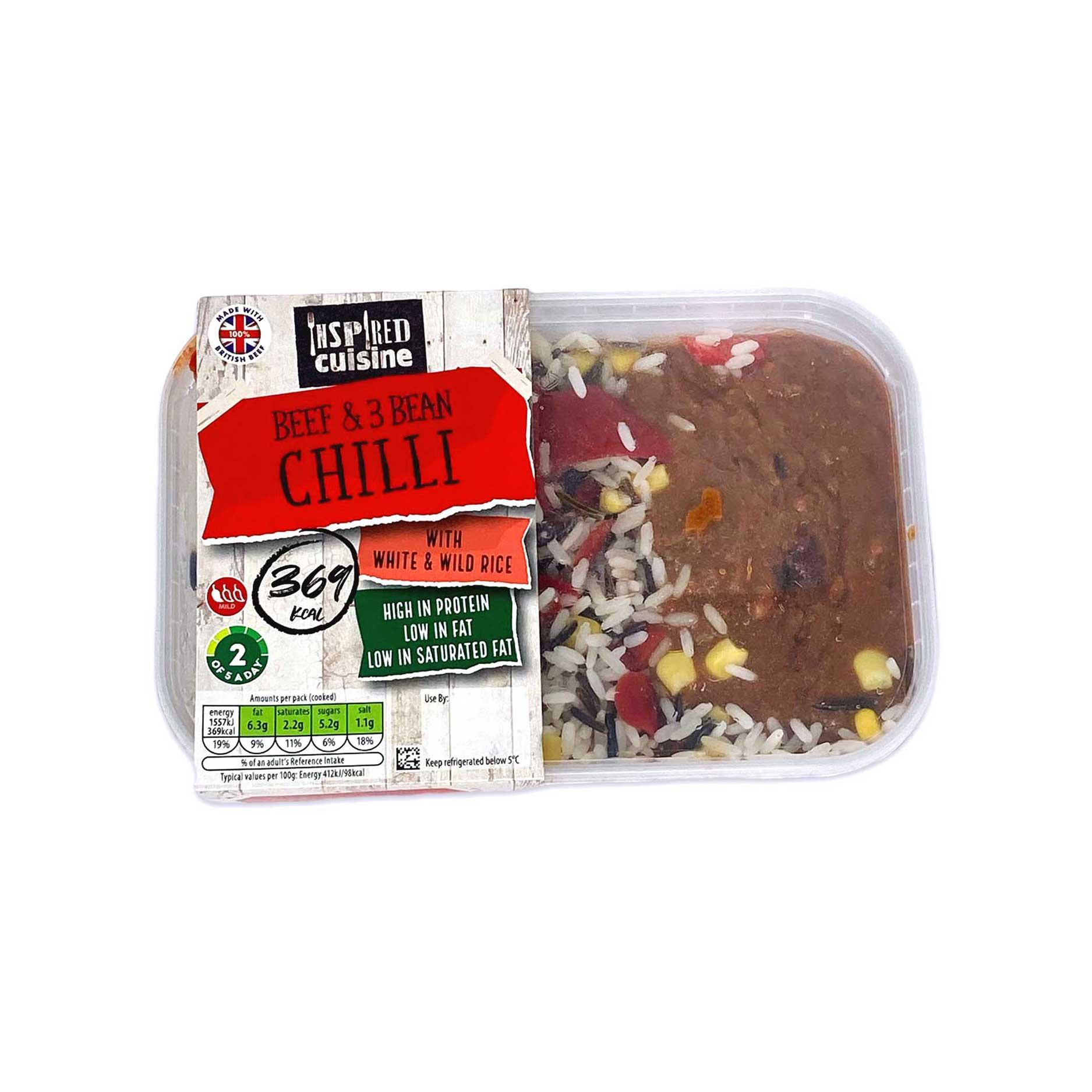 inspired cuisine beef chilli 380g aldi