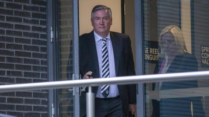 Eddie McGuire exit as Collingwood president, Magpies board, racism report, press conference