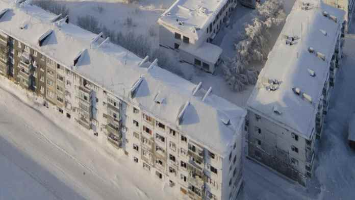 Russian ghost towns frozen in time by -50C temperatures