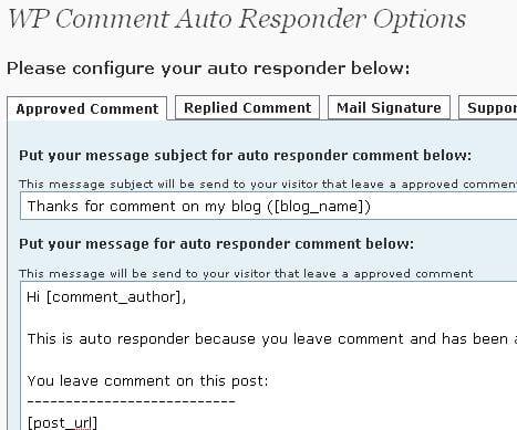 Wordpress Comment Auto Responder Plugin