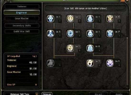 Skill Build Gear Master Hybrid