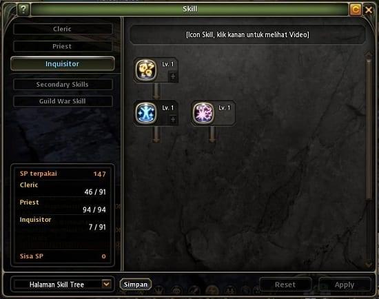 Skill Build Inquisitor