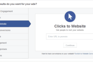 Click To Website di Facebook Ads
