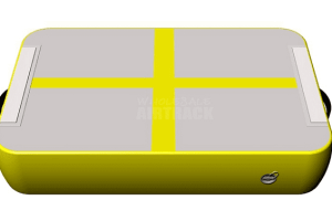 Try gymnastics floor mat gray surface yellow side air track