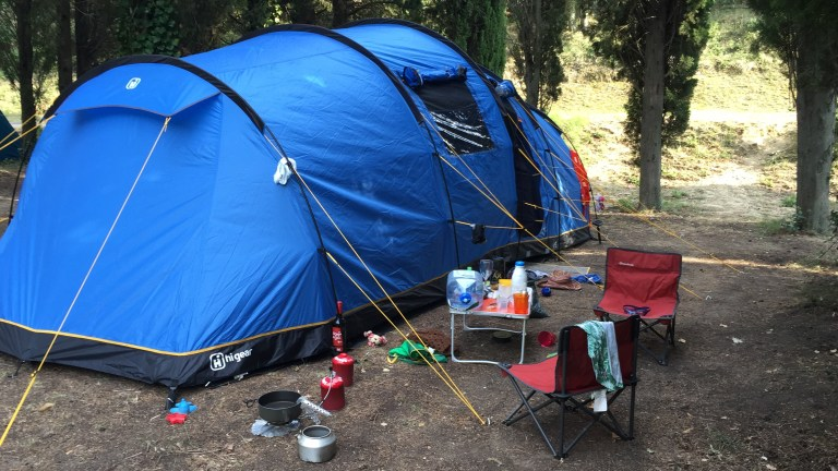 First Family Camp in the Pyrénées-Orientales