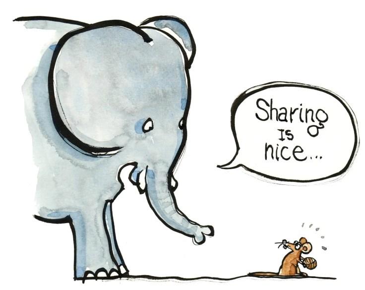 sharing-elephant