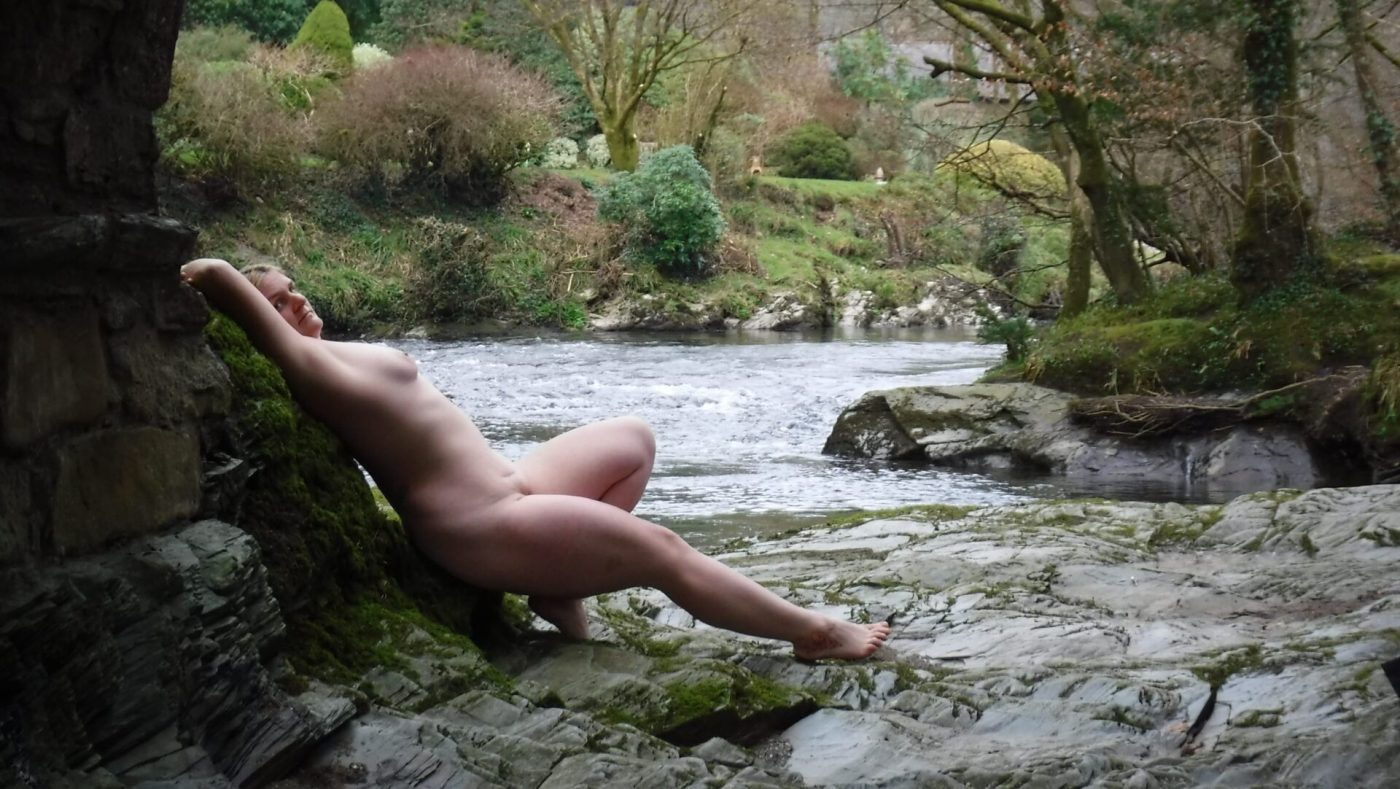 Barefoot reclining by the river for your focus determines your reality