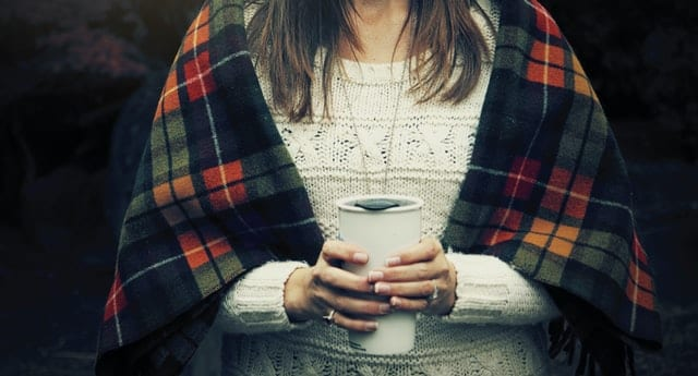 image for your best teacher- lady holding steaming mug.