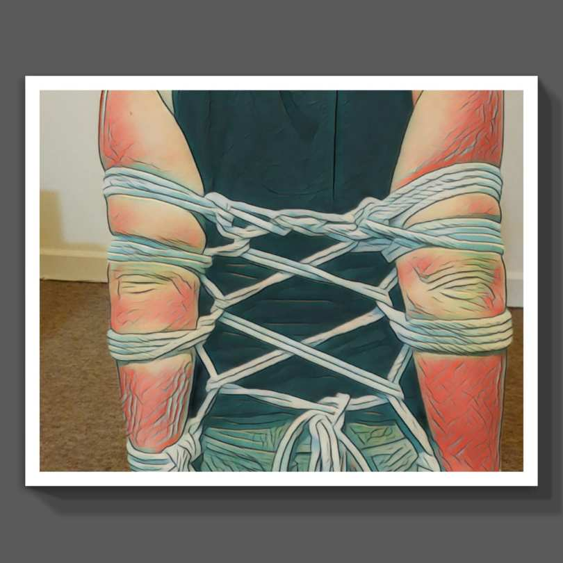 Self tied armbinder, a captured moments