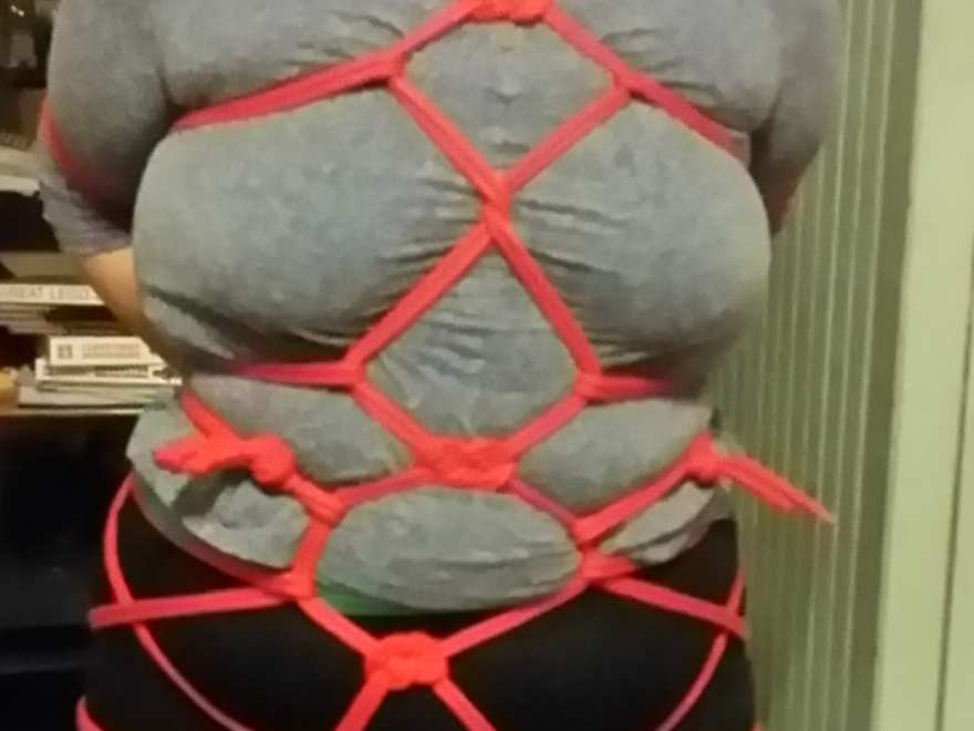 clothed rope in a turtle harness