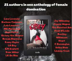 My first anthology promo picture including front cover and author names