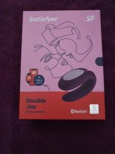 Great expectations for the double joy partner vibrator: front of closed box
