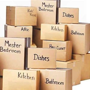 No such thing as an ending header image shows stacks of labelled packing boxes.