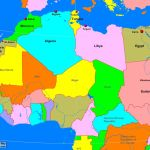 North Africa Political Map A Learning Family